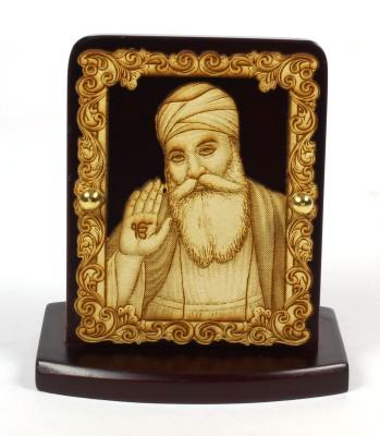 Eknoor Car Dashboard Idol - Guru Nanakdev Showpiece  -  7.5 cm(Wooden, Multicolor)  available at flipkart for Rs.474
