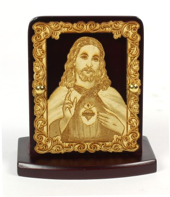 Eknoor Car Dashboard Idol - Jesus Showpiece  -  7.5 cm(Wooden, Multicolor)  available at flipkart for Rs.474