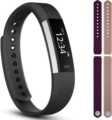 fbandz fbandz Limited edition ultimate ID115 Altum Fitness Band Exercise Tracker Smart Band Phone Call Alert 2 Colourful Replacement Bands(Purple, Pink) at flipkart