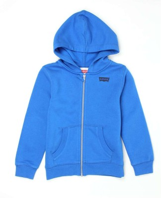 Levi's Full Sleeve Solid Boys Sweatshirt at flipkart