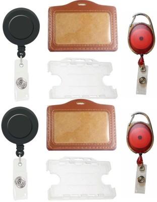 TheFlauntStore Plastic ID Badge Holder(Pack of 8)