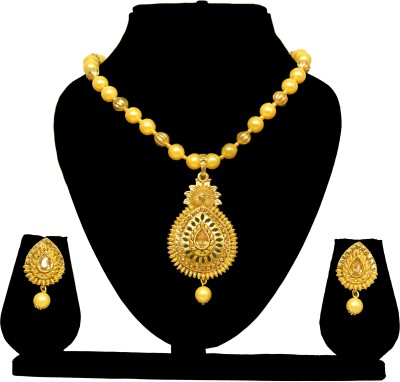 AG Traders Alloy Jewel Set(Gold) at flipkart