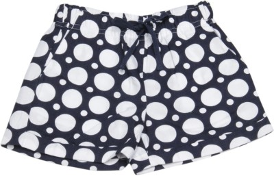 United Colors of Benetton Short For Girls Casual Printed Cotton Blend(Dark Blue, Pack of 1)