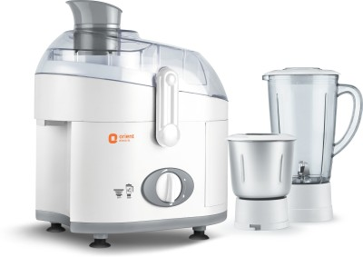 Orient Electric Astra | JMAS50G2 500 W Juicer Mixer Grinder(White and Grey, 2 Jars)