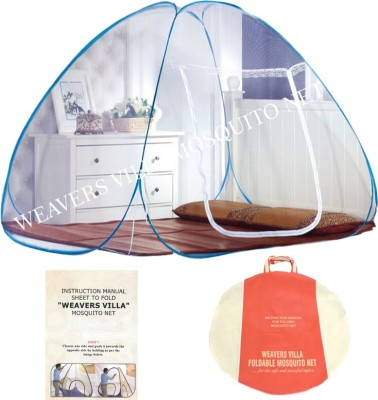 Weavers Villa Polyester Adults (Double Bed 6.5 ft X 6.5 ft) White Mosquito Net(Multicolor)