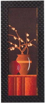 Smile2u Retailers Floral Theme Desing Taxtured UV Canvas Framed Canvas Painting(16 inch x 7 inch)  available at flipkart for Rs.388