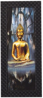 Smile2u Retailers Buddha Desing Taxtured UV Canvas Framed Canvas Painting(16 inch x 7 inch)  available at flipkart for Rs.388