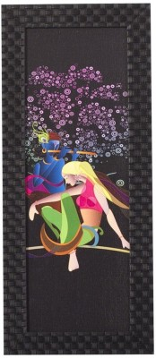 Smile2u Retailers Miniature Theme Desing Taxtured UV Canvas Framed Canvas Painting(16 inch x 7 inch)  available at flipkart for Rs.388