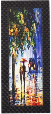 Smile2u Retailers Mordern Art Theme Desing Taxtured UV Canvas Framed Canvas Painting(16 inch x 7 inch)  available at flipkart for Rs.388