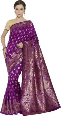 Style U Self Design Banarasi Handloom Jacquard Saree(Red, Blue)
