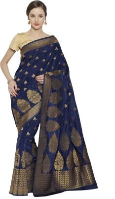 Style U Self Design, Woven Banarasi Handloom Jacquard, Poly Silk Saree(Blue)
