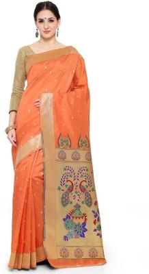 Style U Self Design, Woven Banarasi Handloom Jacquard, Poly Silk Saree(Pink)