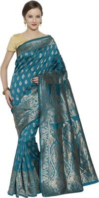 Style U Self Design, Woven Banarasi Handloom Jacquard, Poly Silk Saree(Dark Green)