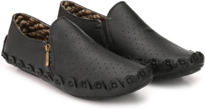 Yoomenz 11-yooscbl Loafers For Men(Black)