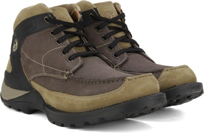 Woodland Leather Boots(Brown) at flipkart