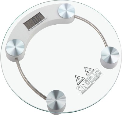 Like Star Digital Glass Weighing Scale Personal Health Body Measuring Gain or Loose Identifier 150 KG LCD Display Weighing Scale Machine Weighing Scale(White)  available at flipkart for Rs.599