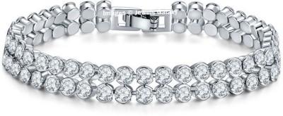 Jewels Galaxy Alloy Swarovski Crystal Platinum Charm Bracelet Jewels Galaxy Bangles Bracelets   Armlets