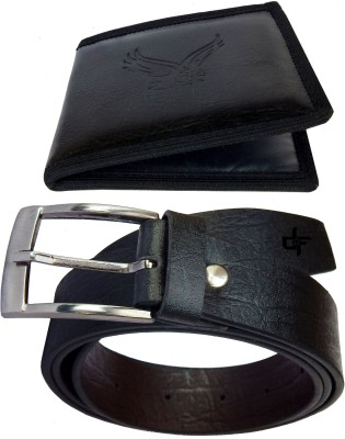 DFashion Men Black Synthetic Belt
