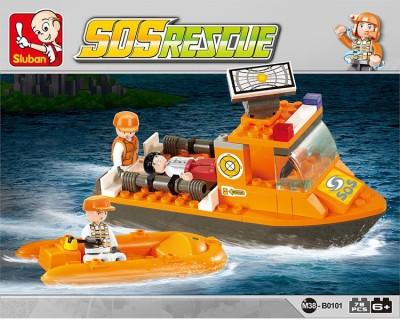 Sluban First Aid Boat Multicolor Sluban Blocks   Building Sets