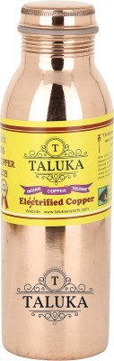 "Taluka ( 2.5"" x 9."" Inches Approx ) Pure Copper Handmade Quality Copper Bottle Water Bottle Joint free - Leak Proof 