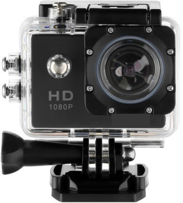 IBS 30M Under Water Waterproof 2 inch LCD Display 12 Wide Angle Lens Full Sports AC56 1080P Ultra HD Sports & Action Camera(Black)