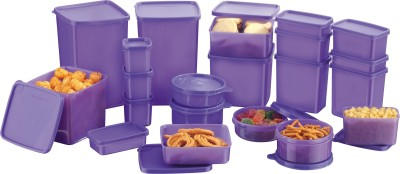 Princeware twister  - 1230 ml, 1350 ml, 840 ml, 715 ml, 490 ml, 230 ml Plastic Grocery Container(Pack of 20, Blue)