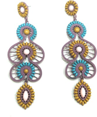AMARA JEWELLERS INDOWESSTERN EARRINGS Brass Drop Earring at flipkart