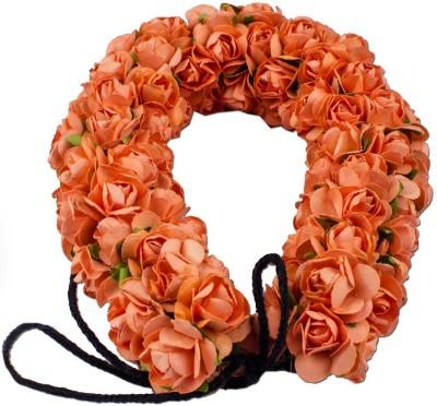 Majik Women Accessories Flowers 3D Gajra (Veni) Hair Band(Orange) Flipkart