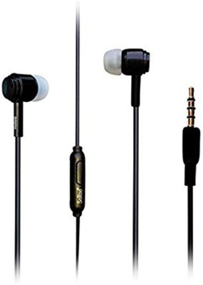 Vsquare Soroo In Ear Wired Earphones With Mic 3.5mm Headset Headphone(Black, Over the Ear)