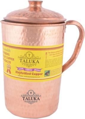 Taluka 2.5 L Water  4.5  x 9  Inches  Pure Copper Jug Hammered Jug With Lid Capacity :  2.5 Liter Jug