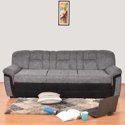 Furny Lexus Fabric 3 Seater  Sofa(Finish Color - Black)