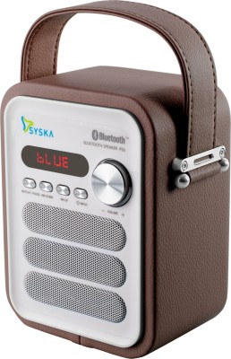 Syska P50 Portable Bluetooth Mobile/Tablet Speaker(Brown, Mono Channel)