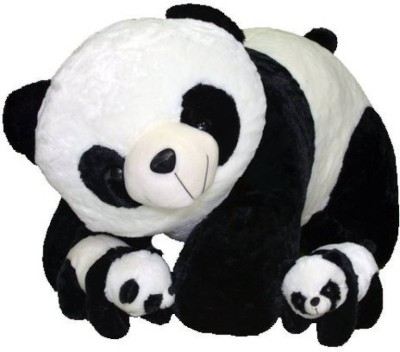Gifteria Mother Panda with 2 Babies   60 cm Black, White Gifteria Soft Toys