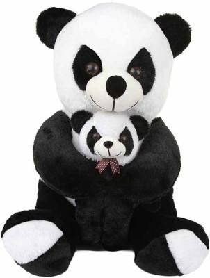 Lata Panda with Baby   30 inch Black[[White Lata Soft Toys