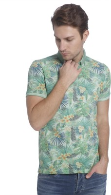 Jack & Jones Printed Men's Polo Neck Multicolor T-Shirt at flipkart