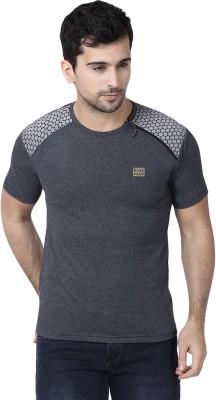 Demokrazy Solid Men's Round Neck Black T-Shirt