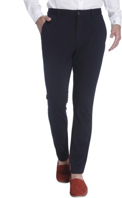 Jack & Jones Regular Fit Men's Blue Trousers at flipkart