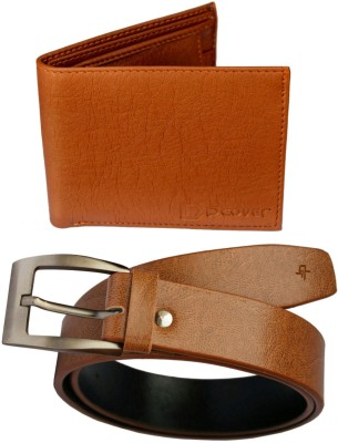 DFashion Men Tan Artificial Leather Belt