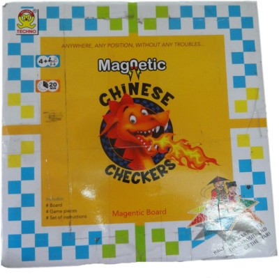 Kids Mandi Techno Magnetic Chinese Checkers Board Game  available at flipkart for Rs.225