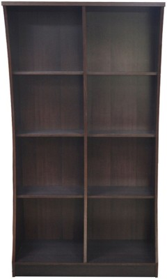 Eros Moderna Engineered Wood Open Book Shelf(Finish Color - Walnut)