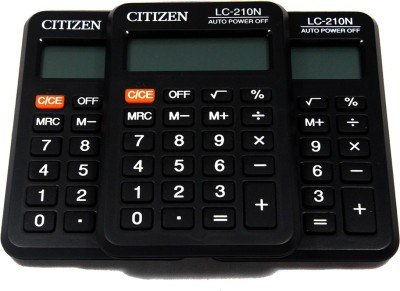 CITIZEN |Pack of 3| LC-210N Stealodeal |Pack of 3| LC-210N Basic Calculator(8 Digit)