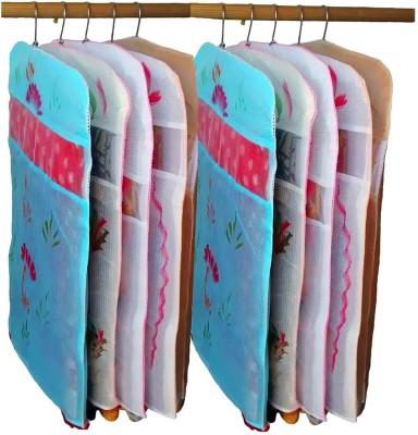 atorakushon designer Pack of 10 Printed Hanging Saree Garment Dress Protection Cover at 10pcs hanging printed saree Multicolor atorakushon Garment Cov