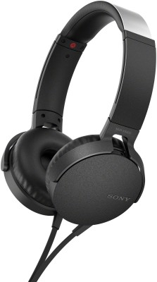 Sony XB550AP Wired Headset with Mic(Black, Over the Ear)