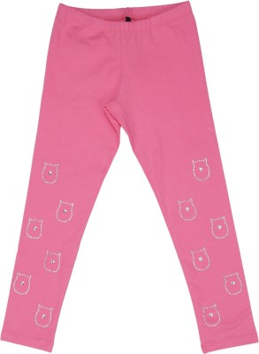 United Colors of Benetton Legging For Girls(Pink Pack of 1)