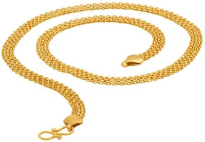 Dare For Voylla Artificial Classic Plain Yellow Gold Plated Brass Chain at flipkart