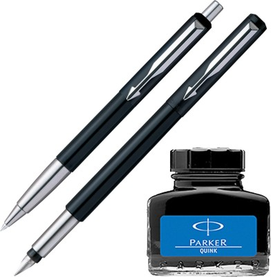 Parker Vector Standard Sets Fountain Pen & Ball Pen with Blue Quink Ink Bottle(Pack of 2)  available at flipkart for Rs.560