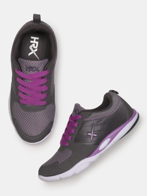 HRX by Hrithik Roshan Training & Gym Shoes For Women(Purple, Grey) at flipkart
