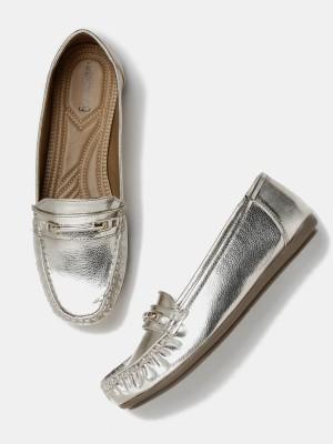 Dressberry Loafers(Silver) at flipkart