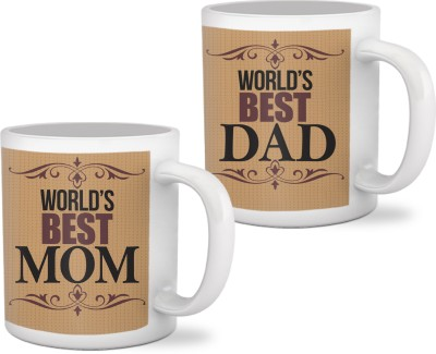 Tiedribbons Marriage Anniversary Gifts for Mom Dad Mug Gift Set  available at flipkart for Rs.699