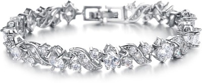 Yellow Chimes Alloy 18K White Gold Bracelet at flipkart